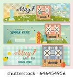 vector collection of flat... | Shutterstock .eps vector #646454956