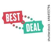 best deal sale sticker or... | Shutterstock .eps vector #646455796