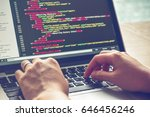 programming work time.... | Shutterstock . vector #646456246