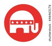 usa elephant symbol icon | Shutterstock .eps vector #646463176