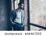 success concept. stylish young... | Shutterstock . vector #646467355
