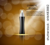 cosmetics ads template poster... | Shutterstock .eps vector #646483882