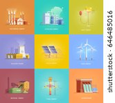 set of illustrations on the... | Shutterstock .eps vector #646485016