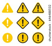 set of caution icons. caution... | Shutterstock .eps vector #646488532
