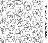 Lemon Vector Pattern Black White