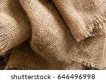 folded burlap fabric | Shutterstock . vector #646496998