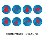 red and blue christmas icons... | Shutterstock .eps vector #6465070