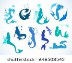 sealife set  doodle sketched... | Shutterstock .eps vector #646508542