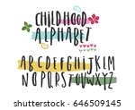 capital hand painted font.... | Shutterstock .eps vector #646509145