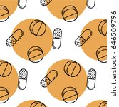 seamless trendy pattern with... | Shutterstock .eps vector #646509796