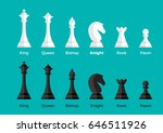 white and black flat chess... | Shutterstock .eps vector #646511926