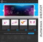 web site design template   Shutterstock .eps vector #64651429