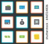 flat payment  cash stack ... | Shutterstock .eps vector #646514836