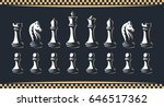 chess figure set   vector... | Shutterstock .eps vector #646517362