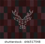 head of a deer and triangles... | Shutterstock .eps vector #646517548