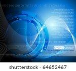 blue mechanical background  ... | Shutterstock .eps vector #64652467