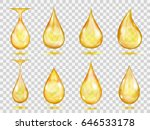 set of transparent drops in... | Shutterstock .eps vector #646533178