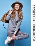 beautiful woman sexy glamour... | Shutterstock . vector #646535212