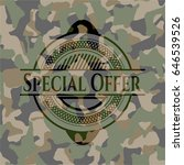 special offer on camouflaged... | Shutterstock .eps vector #646539526
