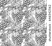 seamless pattern with vine.... | Shutterstock .eps vector #646542562