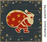 retro santa claus. vector   Shutterstock .eps vector #64654798