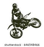 motocross rider | Shutterstock .eps vector #646548466
