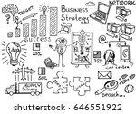 business doodles sketch set of... | Shutterstock .eps vector #646551922