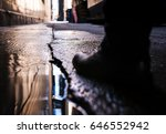 a photograph taken in downtown...   Shutterstock . vector #646552942