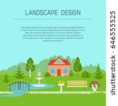 landscape design banner  poster ... | Shutterstock .eps vector #646555525