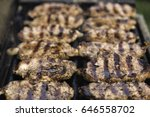 steaks on barbecue grill | Shutterstock . vector #646558702
