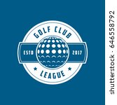 golf league emblem flat icon on ... | Shutterstock .eps vector #646558792