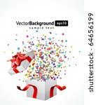open explore gift with fly... | Shutterstock .eps vector #64656199