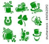 leaf clover labels and elements ... | Shutterstock .eps vector #646562092