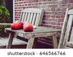 close up clogs  zaanse schans ...   Shutterstock . vector #646566766