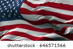 usa flag blowing on the wind ... | Shutterstock . vector #646571566