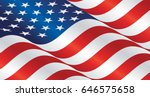 usa wavy flag landscape... | Shutterstock .eps vector #646575658