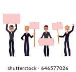 young men  businessmen in... | Shutterstock .eps vector #646577026
