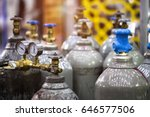 gas cylinders used welding... | Shutterstock . vector #646577506