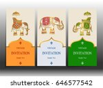 invitation card templates with...   Shutterstock .eps vector #646577542