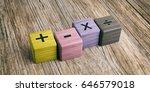 School Concept   Math Symbols...