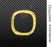 gold neon round frame with... | Shutterstock .eps vector #646579312