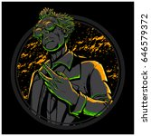 mad scientist | Shutterstock .eps vector #646579372