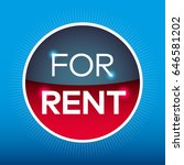 for rent red blue circle sign... | Shutterstock .eps vector #646581202