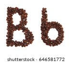 Letter B Made Of Coffee Beans ...