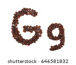 Letter G Made Of Coffee Beans ...