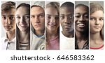 portraits of people from... | Shutterstock . vector #646583362