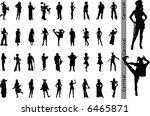 carnival. vector silhouettes... | Shutterstock .eps vector #6465871