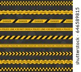 black and yellow police stripe... | Shutterstock .eps vector #646589815