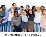 diverse group of people... | Shutterstock . vector #646592692