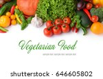 vegetarian food concept. fresh... | Shutterstock . vector #646605802